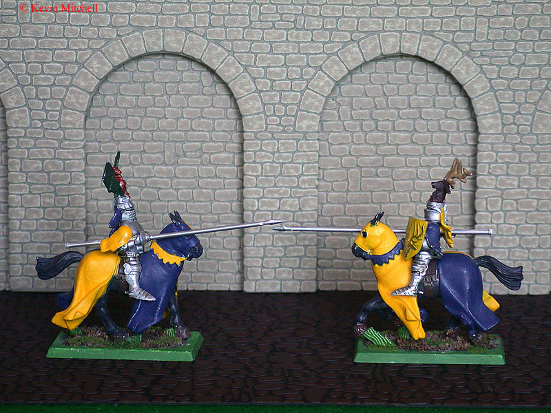 Jousting beside a wall
